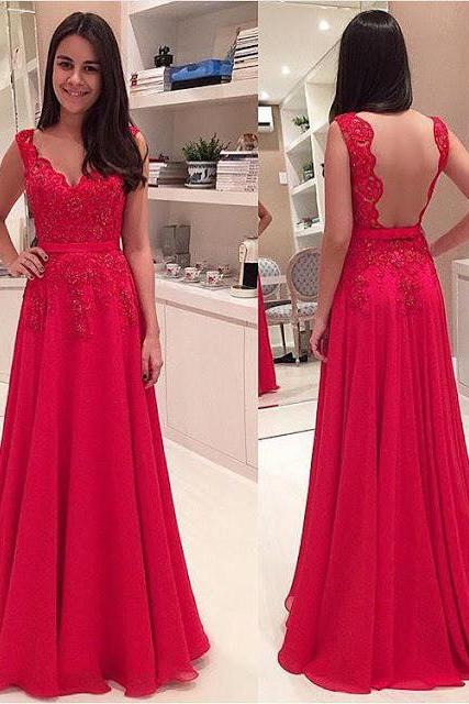 luxury elegant prom dresses 2016 v neck red chiffon,evening dress beaded women pagenat gowns formal party dress